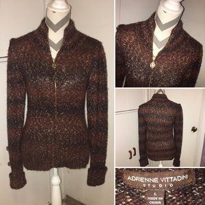 ADRIENNE VITTADINI | NWT | zip front sweater